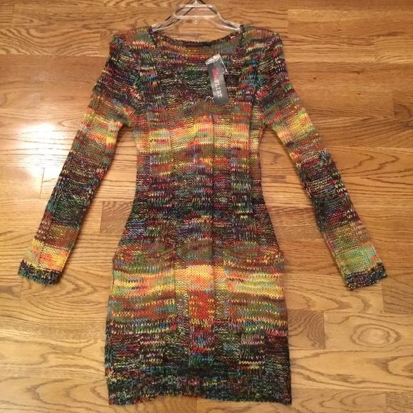 NWT Ultra Flirt Long Sleeve Sweater Dress-M